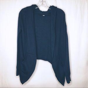 Lululemon Teal Hooded Multi Way Cardigan Sweater